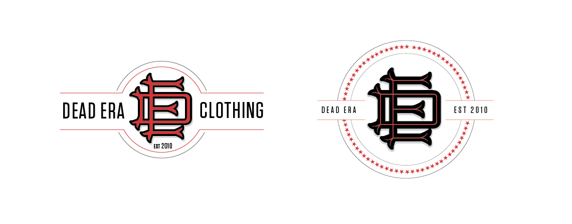 Dead Era Logo Design Monogram Alternates