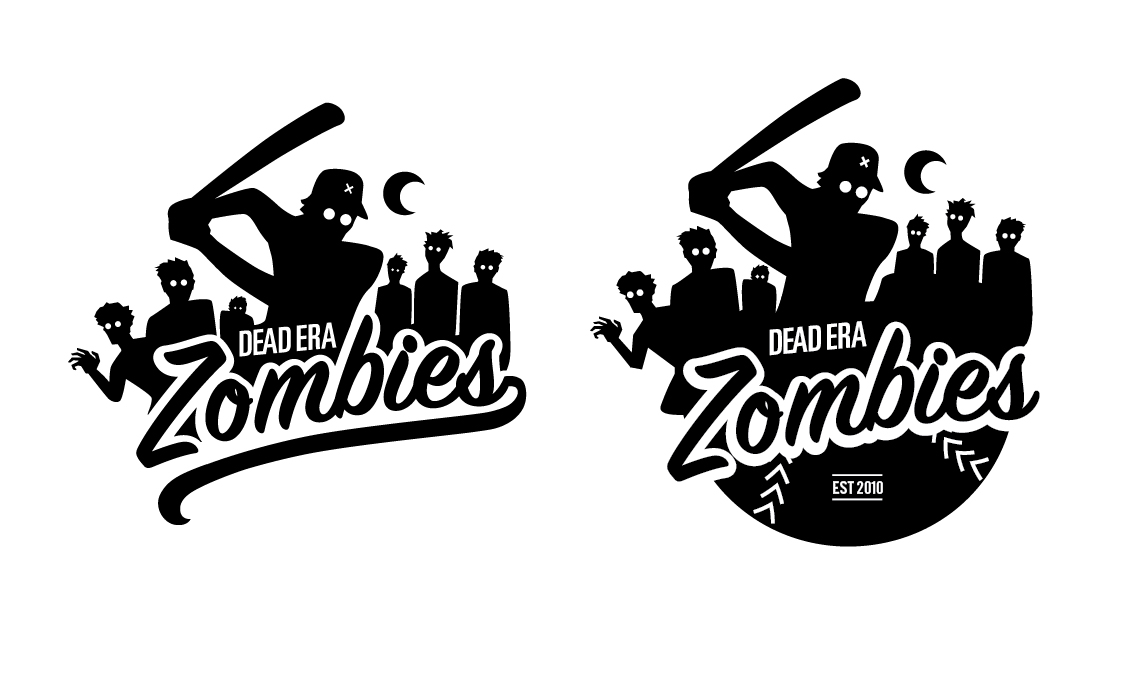 Dead Era Zombies Baseball T-Shirt Design
