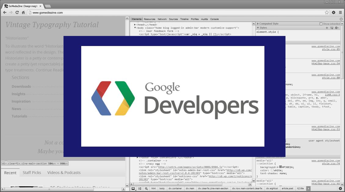 Quick Tips on Using Google Chrome's Developer Tools - Go Media ...