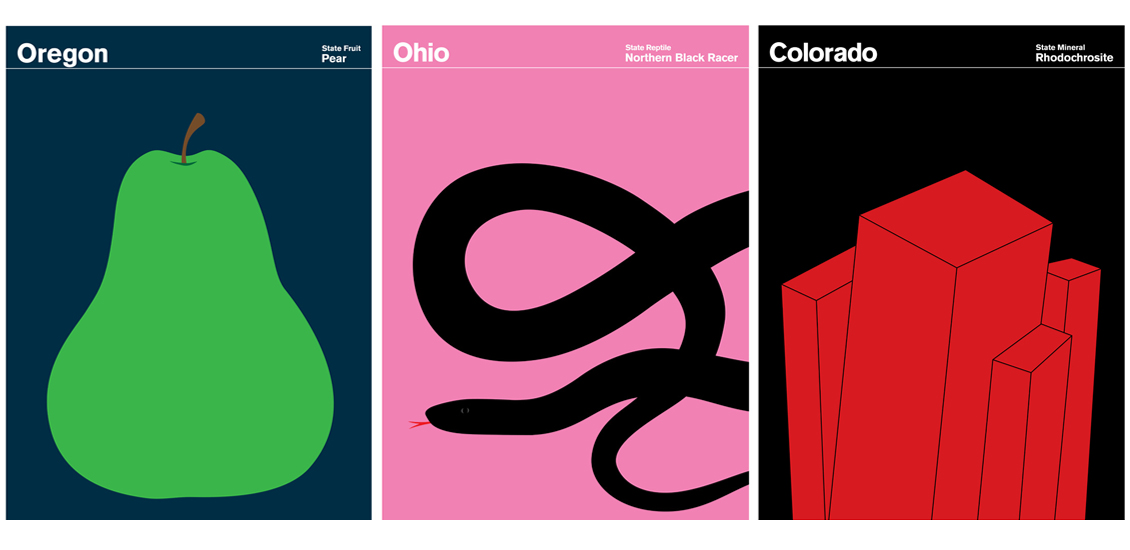 The State of America Print Series by Julian Montague