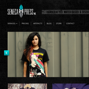 Seneca Press Responsive Website Design