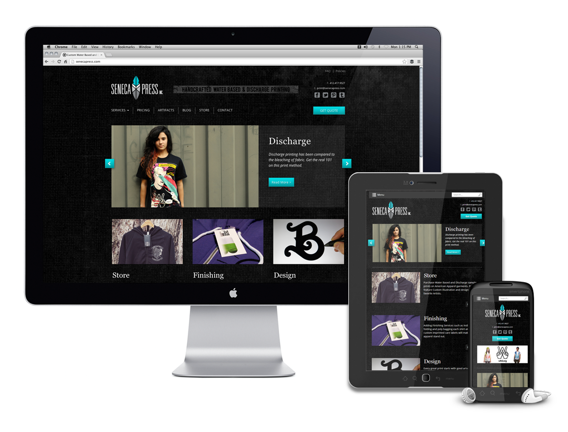 Seneca Press Responsive Website Design