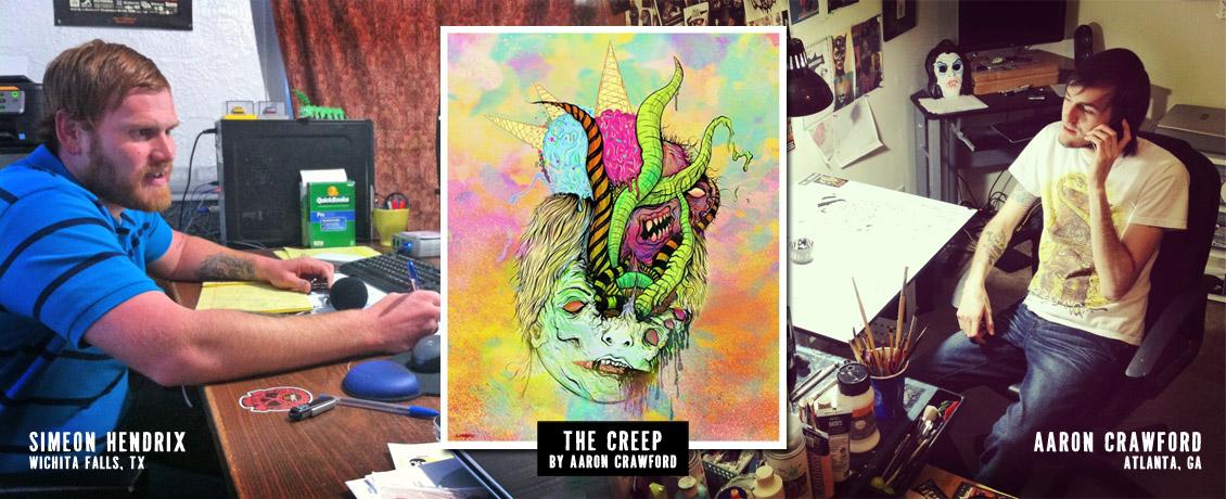 Go Media Zine Artist Spotlight Interview - Aaron Crawford by Simeon Hendrix