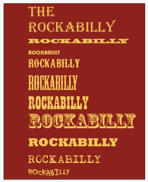 Create a Rockabilly Poster With Vector Set 22 - Typeface choices