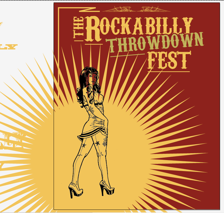 Create a Rockabilly Poster With Vector Set 22 - Central character change