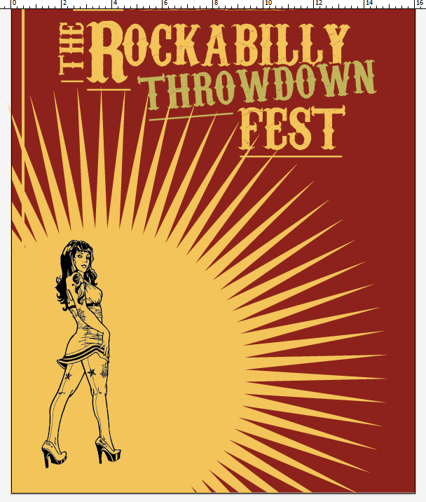 Create a Rockabilly Poster With Vector Set 22 - Starburst editing