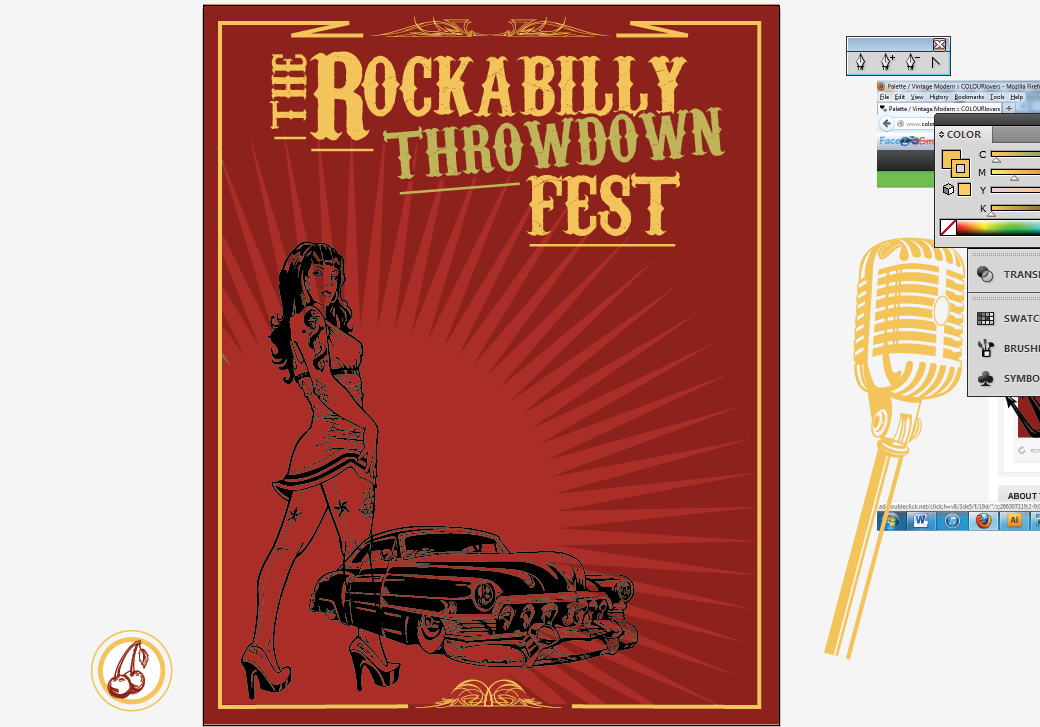Create a Rockabilly Poster With Vector Set 22 - Bringing additional elements in