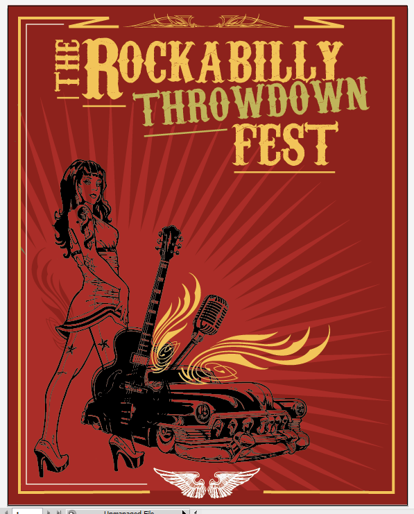 Create a Rockabilly Poster With Vector Set 22 - Pinstripe placement