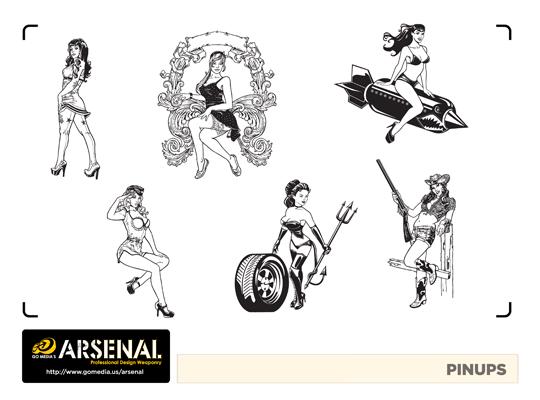 Go Media's Arsenal - Vector set 22 - Pinups