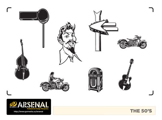 Go Media's Arsenal - Vector set 22 - The 50s