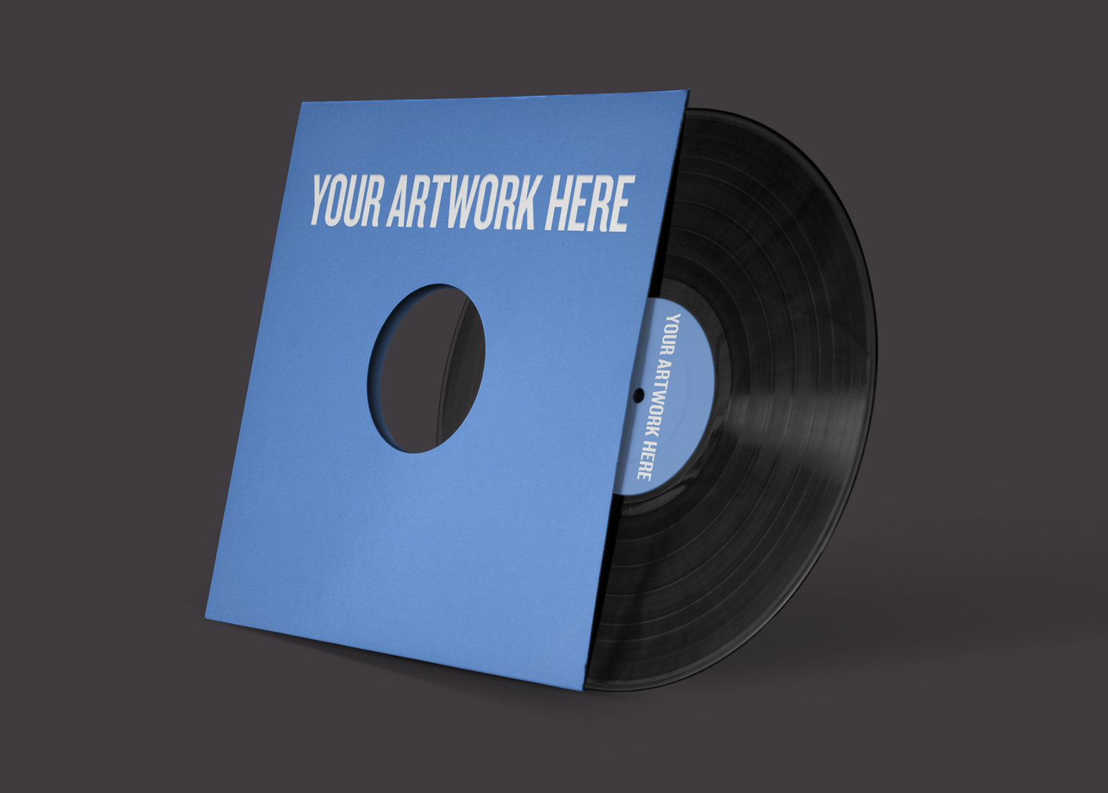It's just a picture of Versatile Free Vinyl Record Label Template