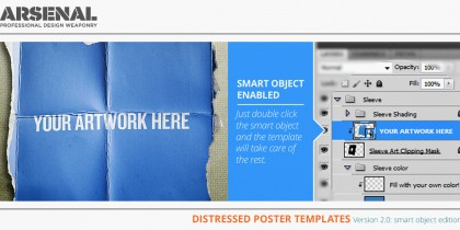 Distressed Poster Templates v2.0 - smart object edition