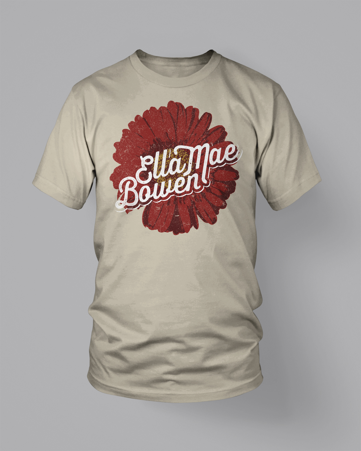 How to Create Vintage T-Shirt Designs with No Drawing Ability - Final art, mocked up