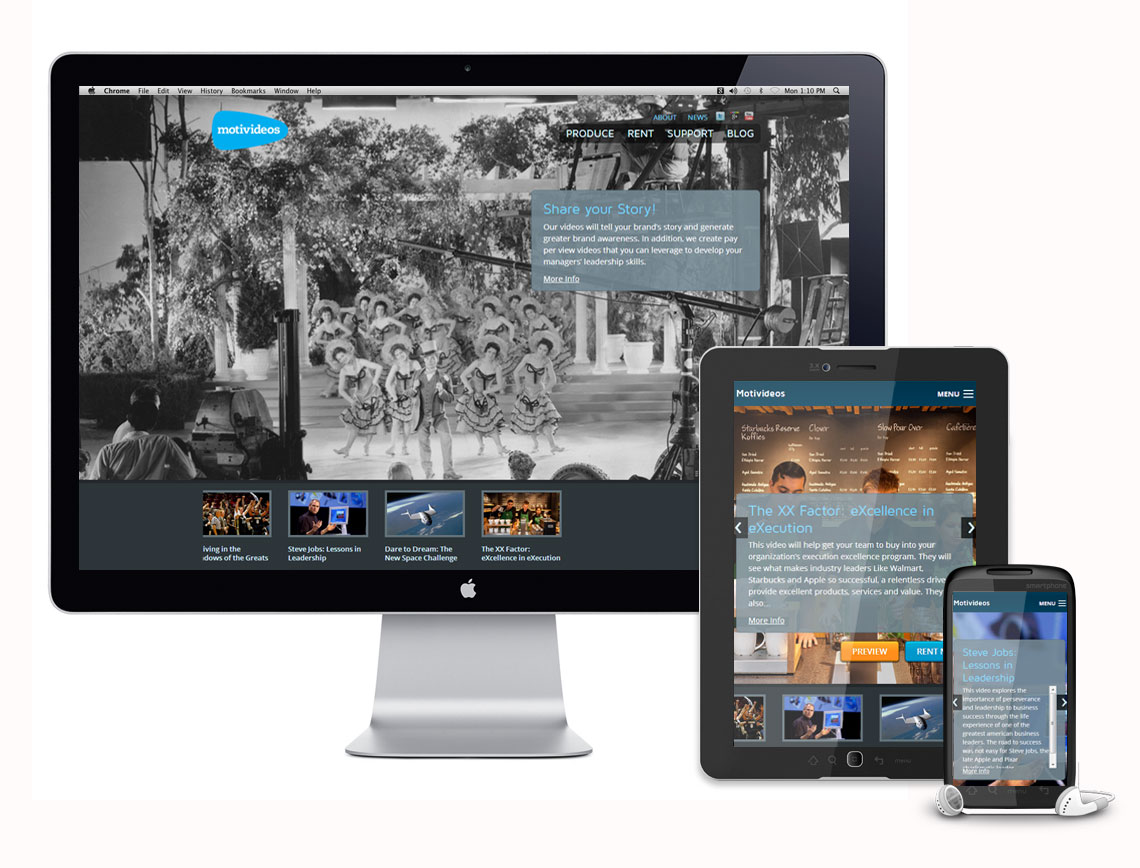 Motivideos Responsive Website Design