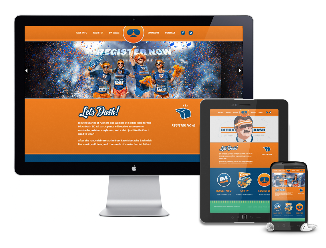 Ditka Dash Responsive Website Design