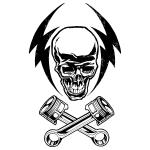 Go Media's Arsenal - Vector set 22 - Greaser skull