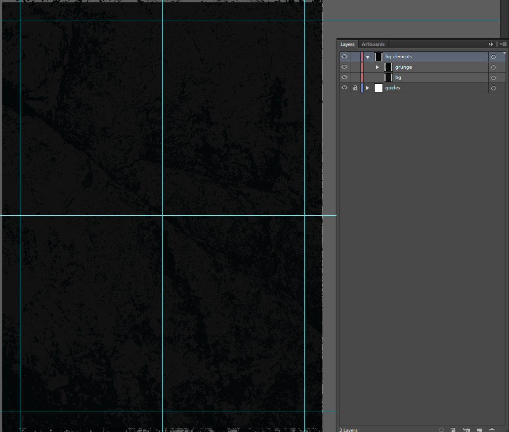 Let's make an horror movie poster with vector set 23 - Placing the background texture