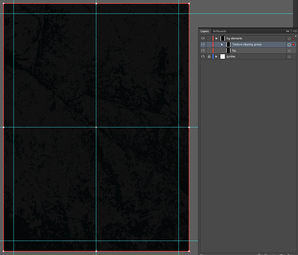 Let's make an horror movie poster with vector set 23 - Background texture clipping mask result