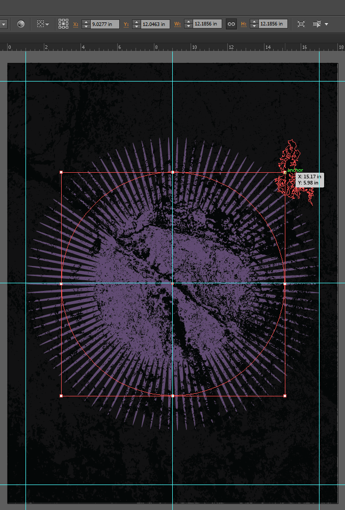 Let's make an horror movie poster with vector set 23 - Background burst creation, resizing