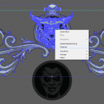 Let's make an horror movie poster with vector set 23 - Preparing the portrait - Adding the ornaments from the wolf piece