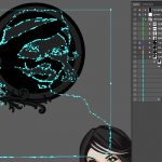 Let's make an horror movie poster with vector set 23 - Preparing the other portraits