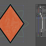 Let's make an horror movie poster with vector set 23 - Adding texture to the diamond