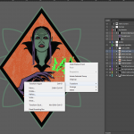 Let's make an horror movie poster with vector set 23 - Adding the witch portrait