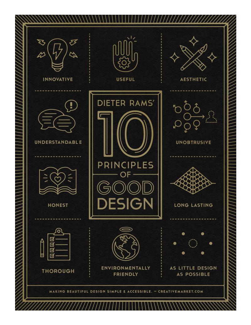 10 Principles of Good Design poster by Gerren Lamson