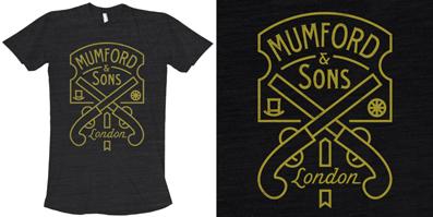 Mumford & Sons Pistol Label Tee | Brandon Rike