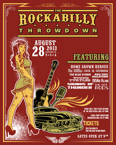 Create an Iconic Rockabilly Poster With Vector Set 22, part II – Poster preview