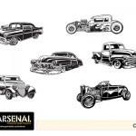 Vintage Cars Vector Pack - Set 22