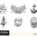Retro Tattoos Vector Pack - Set 22