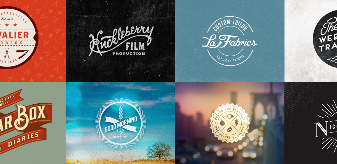 Vintage Vector Logo Design Kit With 15 Free Logo Templates ...