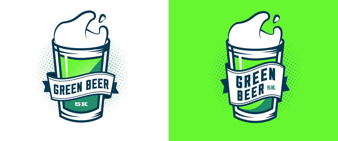 Green Beer 5K Logo Design Graphic