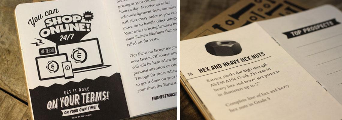 Earnest Machines Print Design Interior Brochure