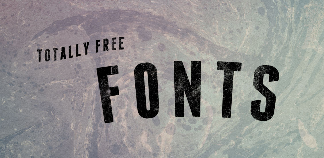 50 Totally Free Fonts for Designers 2014