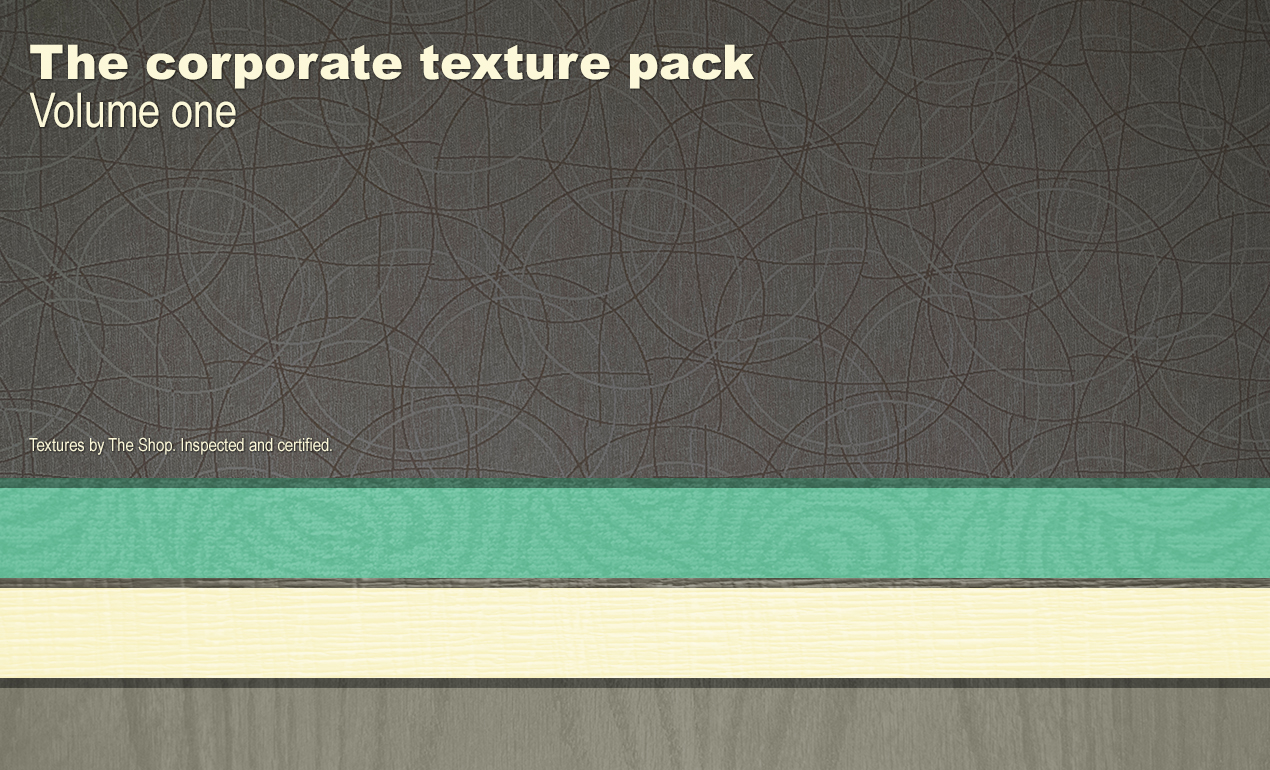 The corporate texture packs - by The Shop / Simon Birky Hartmann