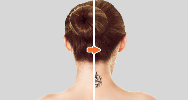 Tattoo MU Photoshop Template Pack Before-After_BackofNeck