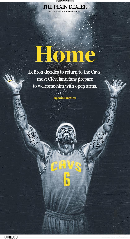LeBron Plain Dealer Cover courtesy of Robert Carter