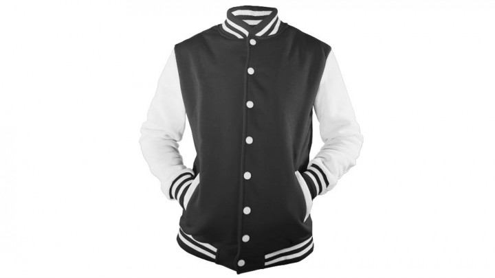Mock this men's varsity jacket template up on MockupEverything.com!