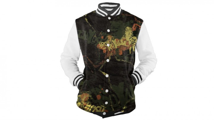 Men's Varsity Jacket - Ghosted, Front_mockedup