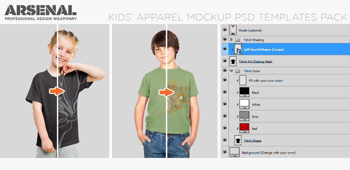 introducing the kids' apparel essentials mockup templates pack, Powerpoint templates