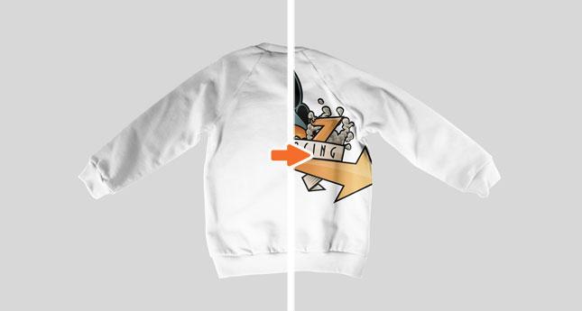 Kids Sweatshirt (Flat Back)