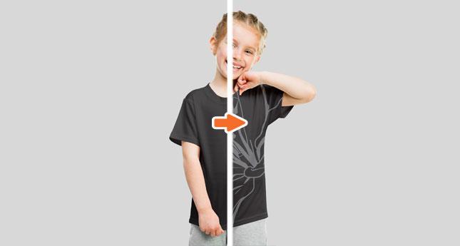 Kids Tee Modelshot (Girl)