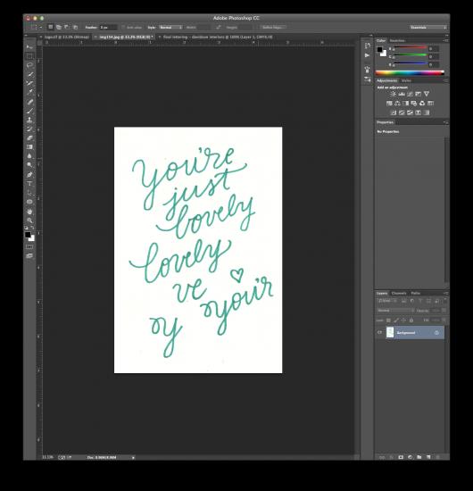 hand lettering tutorial 1
