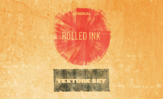 texture collection rolled ink texture set by go media