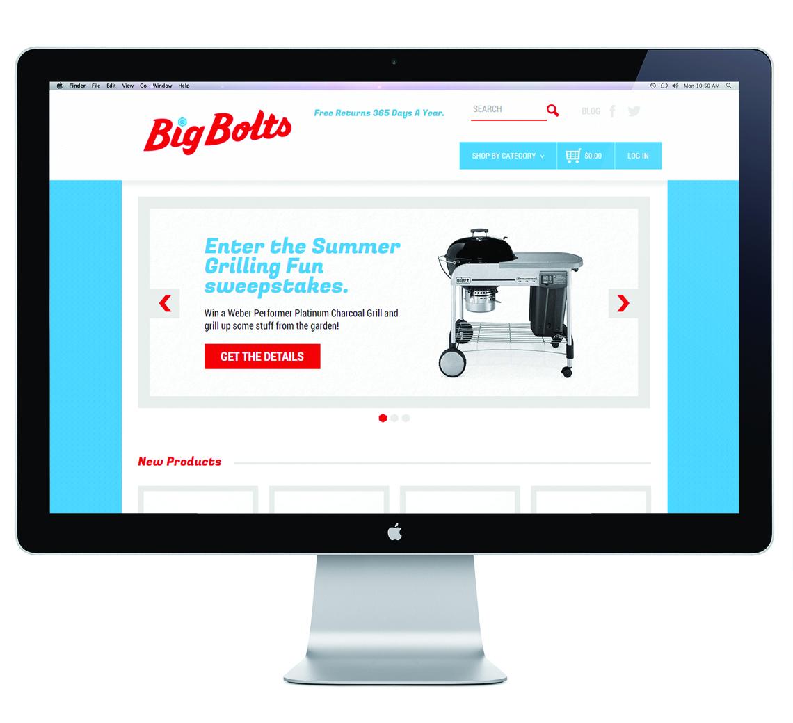 Earnest Machine - Big Bolt Logo Design - Website
