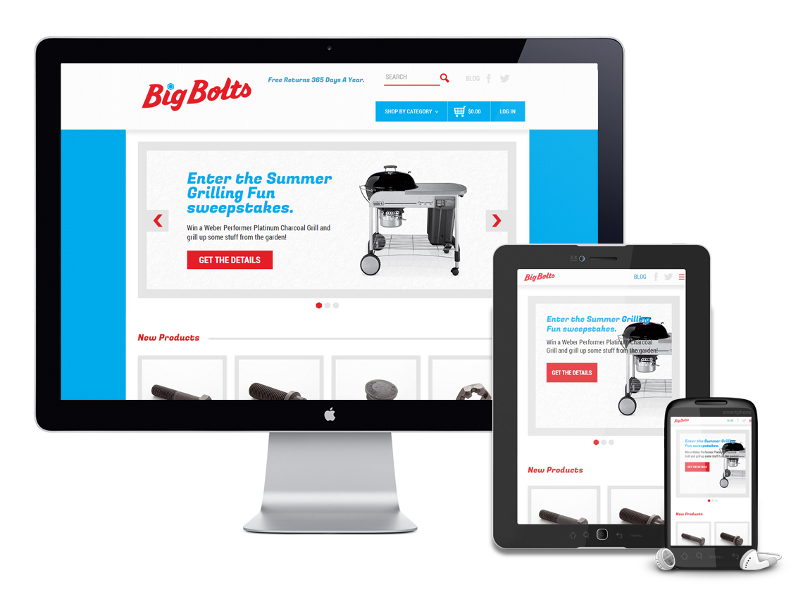 Earnest Machine - Big Bolt Responsive Website Design