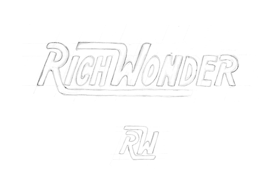 Rich Wonder Logo Design - Sketches 1