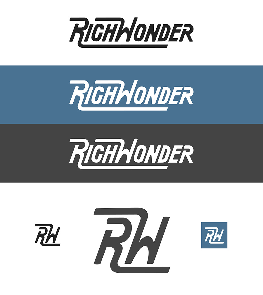 Rich Wonder Logo Design - Typography